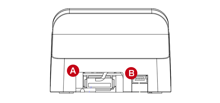 diBar coolCradle USBハブ機能を搭載し、専用ドングルまたは市販のBluetoothドングルをセット可能